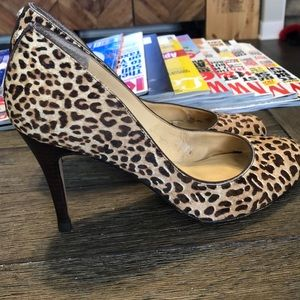 Ivanka Trump Animal Print Heels - 7.5M